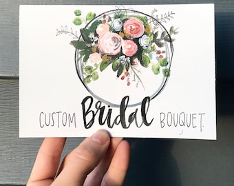 GIFTCARDS // custom bridal bouquet!