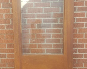 Old Wood Door, Antique, Interior/Exterior Door Glass Window, Building Supply ,