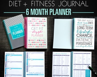 workout tracker fitness journal 12 week get fit planner in