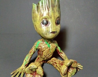 Baby Groot Planter | 3D Printed Planter | Guardians of the Galaxy Groot | Baby Groot | Home Planter | Cactus Planter