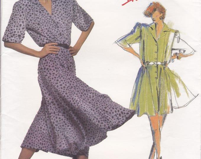 FREE US SHIP Vogue Sewing Pattern 1505 Vintage Retro 1980s Designer Carol Horn Dress Romper Shirtdress Uncut Individualist Size 12 Bust 34