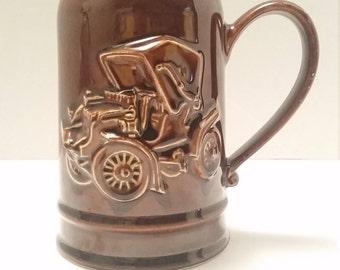 1974 Hall Pottery Brown Stein Mug