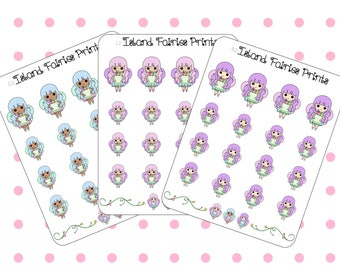 Fairy Grocery Shopping Planner Stickers ( C2 A2 L2 )