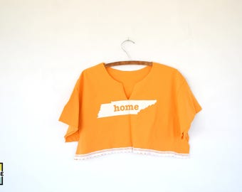 Custom Made Tennessee Vols Cropped T-Shirt