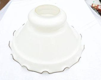 Big Off White Glass Lampshade Lamp Lamp Shade Vintage White Glass Lamp Shade Big Off White Lamp