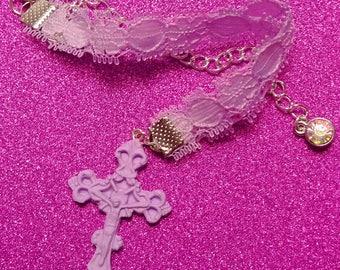 Purple Lace Choker