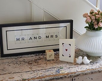 Vintage Letter Love Frames by Vintage Playing Cards FREE UK SHIPPING!