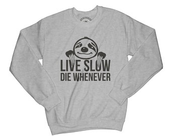Sloth sweatshirt hamster sweatshirt chill sweatshirt anime sweatshirt graphic sweatshirt funny sweatshirt sibling gift live slow    APV28