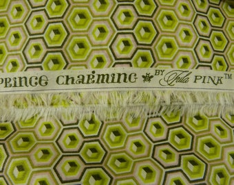 Tula Pink Prince Charming VOILE Hex Box BTHY in Olive - Rare, oop, htf