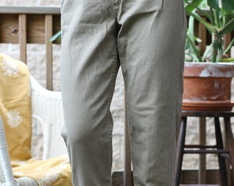 Olive Green High Rise Jeans