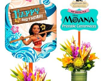 MOANA Centerpieces, Moana Printable Centerpieces, Moana Birthday Decorations, Moana Party, Moana Decorations,Moana Birthday,Moana Printables