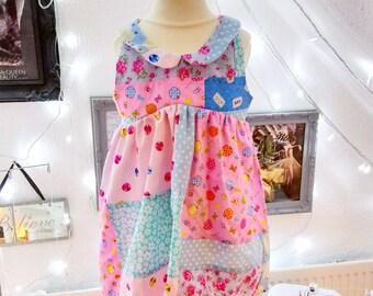 Patchwork Peter Pan Collar Dress