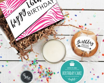 Mini Happy 16th Birthday Gift Box - Send a Birthday Gift | Birthday in a Box | Friend Gift | 16th Birthday Card | Sweet 16