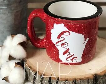 WI Home || Campfire Mug || 15 ounce || Coffee Mug