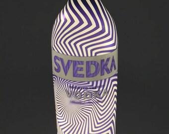 Svedka Bottle Lamp / Zig Zag / Gifts for Men / Gift Ideas