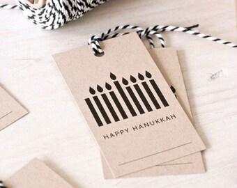Hanukkah Gift Tags, Set of 8