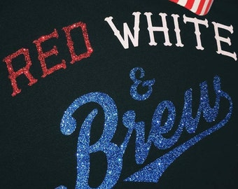 RED, WHITE, & BREW (glitter)