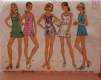 Vintage Simplicity 5696 Sewing Pattern for women 1973 Size 12