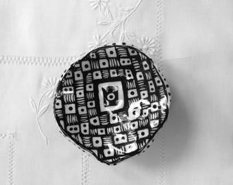 """Black and White Checkerboard Dish 4"""""""
