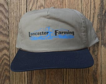 Vintage Lancaster Farming Snapback Hat Baseball Cap