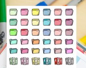 48 FIles / Organization  Mini Icons -  Colourful Hand Drawn Sticker Planner