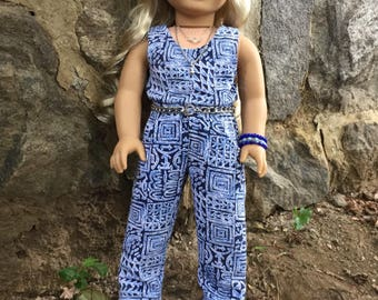 Fits American Girl Doll:  jumpsuit and accessories