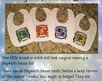 Hogwarts House Crest Baby Bibs