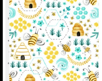 Water Color Bumble Bees, nursery, fitted sheet , changing mat cover, bumpers, rail guard, blanket, desert, cacti, plants, succulent,green