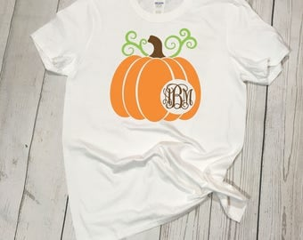 Cute Pumpkin Monogram Tee