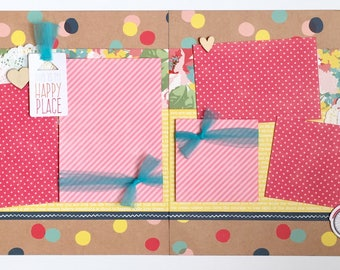 My Happy Place 2 Page Scrapbook Page Kit