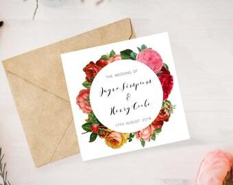 Floral Wedding Invitation Printable Card