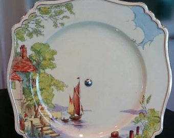 """Cake stand """"Haven""""/Made in England /6980 Sandwich Plate for Tea Time"""