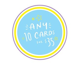 Mix and Match, Greeting Cards, 10 pack, bulk greeting cards, discount, Assorted Cards, Greeting Card Pack, Handmade