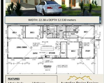 282m2 | 4 Bedroom Country Style home plans For Sale  | 282 m2 | 3034 sq feet |  30.3 sq