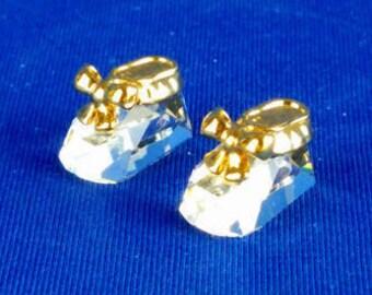 Swarovski Miniature Baby Booties
