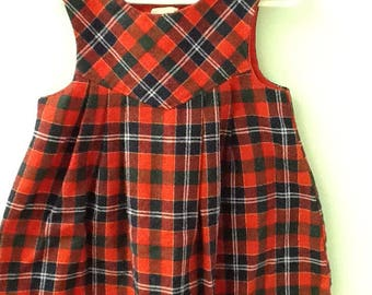 4T Navy, Red, and Green Plaid Jumper