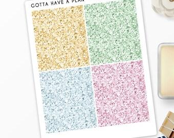 Planner Stickers Summer Panda Glitter Headers for Erin Condren, Happy Planner, Filofax, Scrapbooking