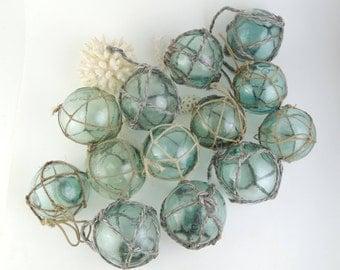 Set of 3, Japanese Vintage Glass Fishing Float, Glass ball