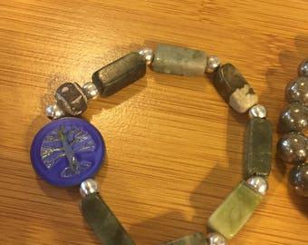 Aromatherapy Bracelet Green Serpentine