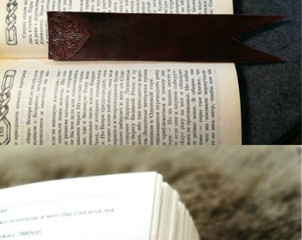 Leather Bookmark, Celtic Bookmark, Irish Bookmark, Books, Book Accessories, Book Marks, Fantasy Bookmarks, Birthday Gift, Anniversary Gift