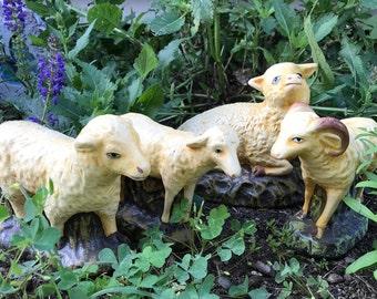 Vintage Large Sheep  Figurine Vintage Big Lamb Figurines