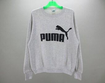 Puma Sweatshirt Men Size M Vintage Puma Pullover 80s 90s Puma Vintage Sweats Made in USA