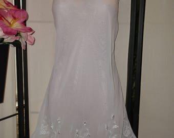 1950 S Vanity Fair White Bridal Peignoir Nightgown Robe