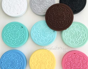 Silicone Cookie / Certified/ Silicone Teething Toy/ Baby Safe/ Cookie/ DIY/ Teether/ Silicone Teethers/ Oreo/ Teether/ Food Grade/ Infant