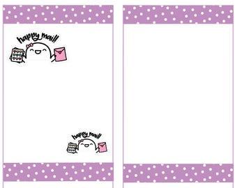 Happy Mail Stickers, Fingie Stickers, Planner Stickers