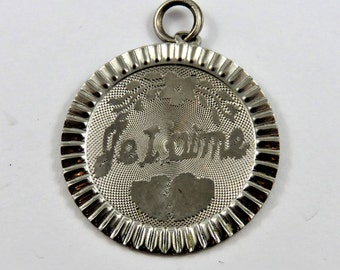 Je T'aime French for I Love You Sterling Silver Charm or Pendant.