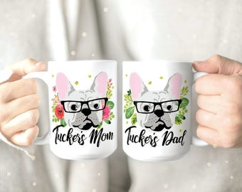 French Bulldog Mug - Frenchie Mug - Frenchie Lover Gift - Frenchie Owner Gift - Personalized Dog Mug - Cute Dog Mug - French Bulldog Print