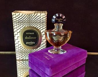 Shalimar Perfume Guerlain 1/3 oz Guerlain Vintage 1960-1970 Marley Horse box