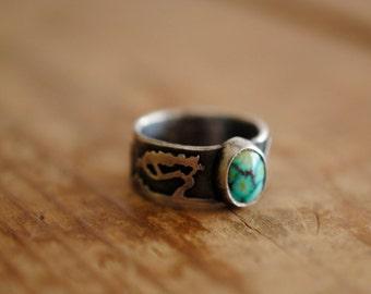 Juniper Tree Scene Turquoise Ring | Size 6
