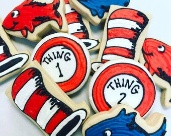 Thing 1, Thing 2 Cookies